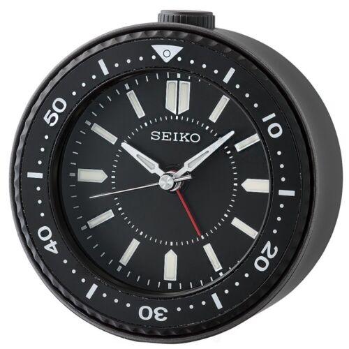 Seiko QHE184K Black Desk Alarm Clock Watch Sobremesa