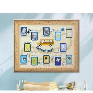 Grade School 1st 12th Year Small Photo Wallet Size Picture Frame Growth Chart