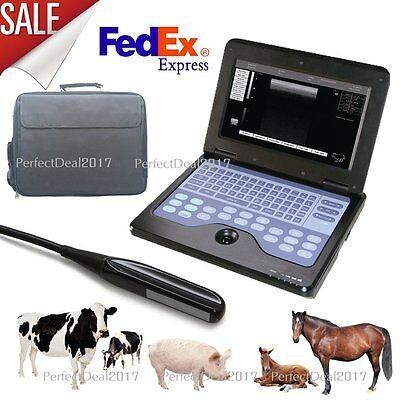 Us Vet Veterinary Portable Ultrasound Scanner Laptop Machine7.5mhz Rectal Probe