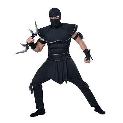 Mens Stealth Ninja Adult Halloween Costume - Mens Ninja Halloween Costumes