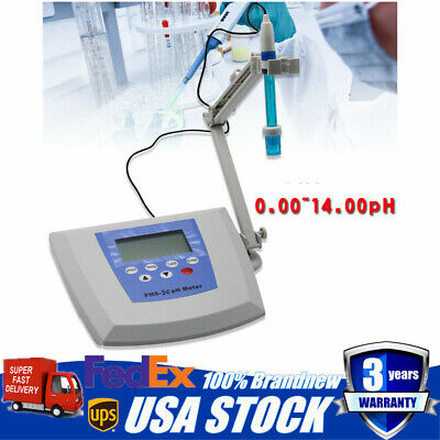 Lab Instrument Benchtop Ph Meter Tester 0.0014.00ph 0 1800mv 0.01ph Accuracy