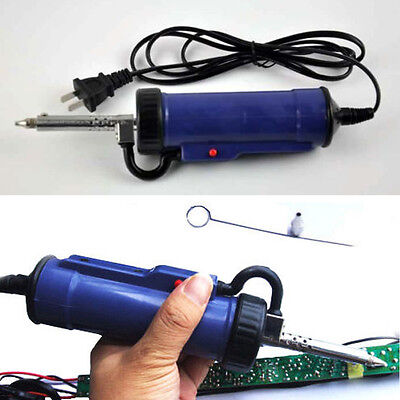 Hot 30w 220v Electric Vacuum Solder Sucker Desoldering Pump Iron Gun E Class
