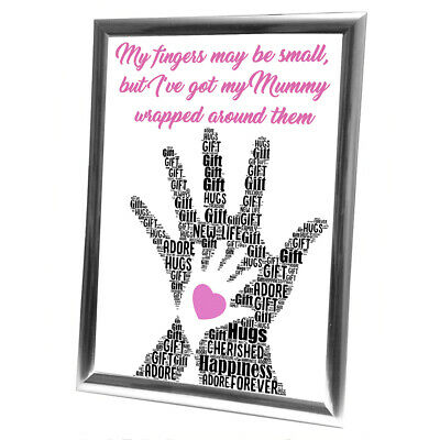 Personalised Gifts Christmas Baby New Born Family Framed Best Card Newborn
