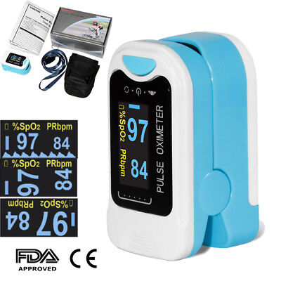 Fda Us Seller Finger Tip Pulse Oximeter Blood Oxygen Spo2 Monitor Pouch Lanyard