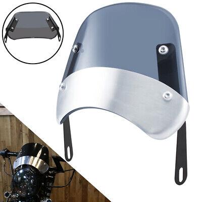 5-7'' Round Smoke Headlight Windshield Motorcycle Fairing Windscreen Universal
