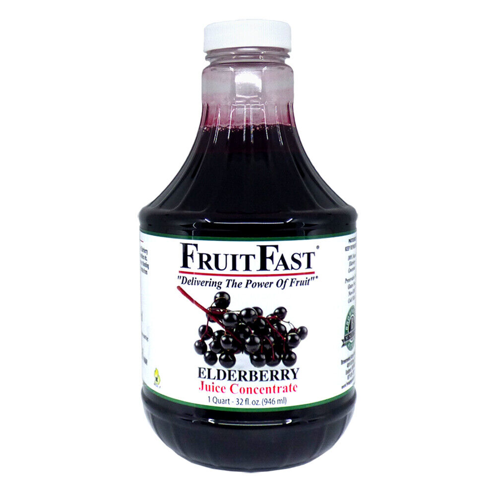 "Elderberry Juice  Concentrate ""Cold Filled"" 1 Quart - 64 day supply"