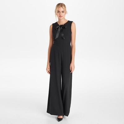 KARL LAGERFELD NwT Elegance @ its best BLACK Rhinestone Self-Tie Crêpe