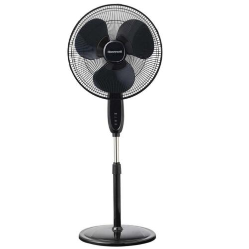 Honeywell Double Blade 16 Pedestal Fan Black With Remote Con