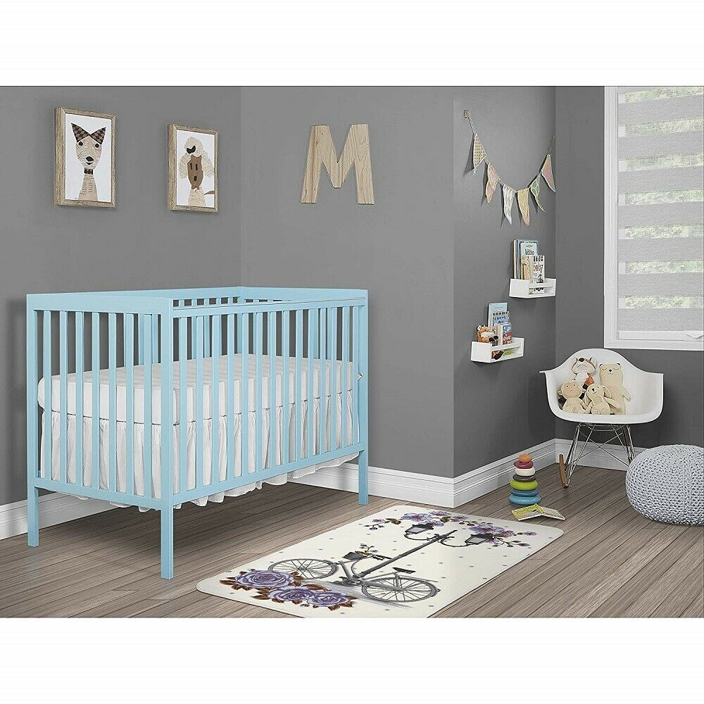 Dream On Me Synergy5-in-1 Convertible Crib - Aqua