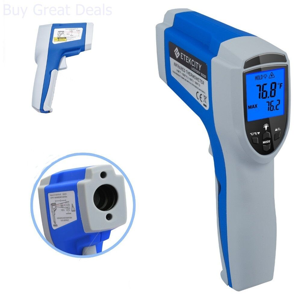 Details about Etekcity 1022D Dual Laser Digital Infrared Thermometer  Temperature Gun