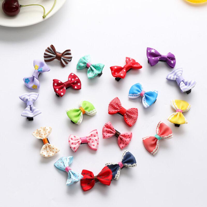 20x Haarspange gemischt Farben Baby Mädchen Haarklammern schleife Schön Set