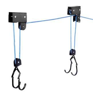 AUS FREE DEL-2x 45kg Capacity Kayak Hoist Ceiling Rack, 16m Rope