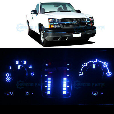 Blue Climate Heater Ac Control Bulb Led Lights For Silverado 1500 No Lcd 03 06
