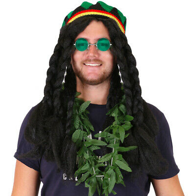 ADULTS RASTA MAN COSTUME SET JAMAICAN REGGAE GANJA NOVELTY OUTFIT FANCY (Rasta Man Kostüme)