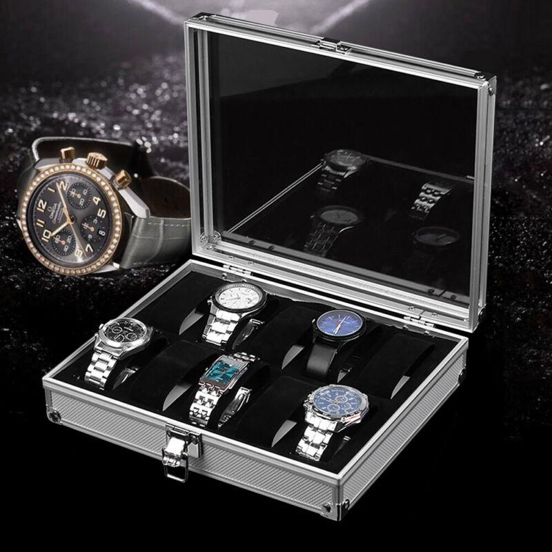 12 Uhren Uhrenbox Uhrenkoffer Uhrentruhe Uhrenkasten Uhrenschatulle Aluminium DE