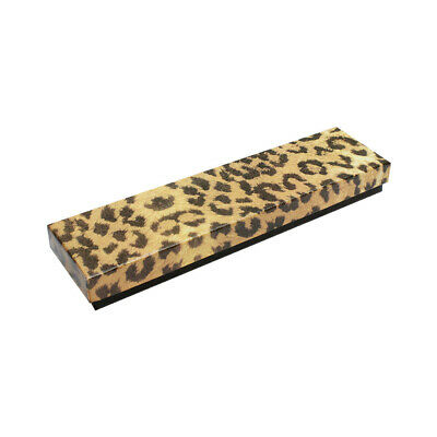 Gift Boxes Jewelry Leopard Print Cotton Filled Batting Cardboard Box 100pc 8x2