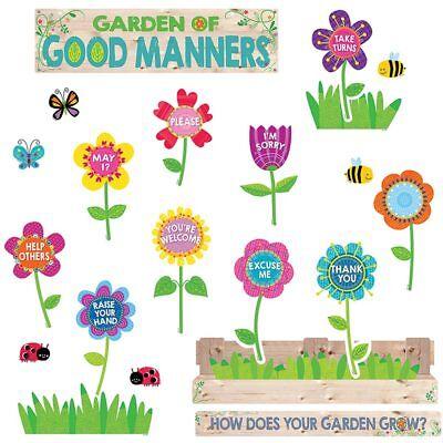 Good Manners Bulletin Board (Garden of Good Manners Mini Bulletin Board Creative Teaching Press)