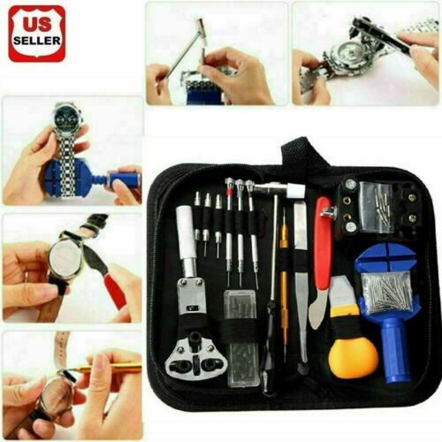 147 pcs Watch Repair Kit Watchmaker Back Case Remover Opener Link Pin Spring Bar Jewelry & Watches