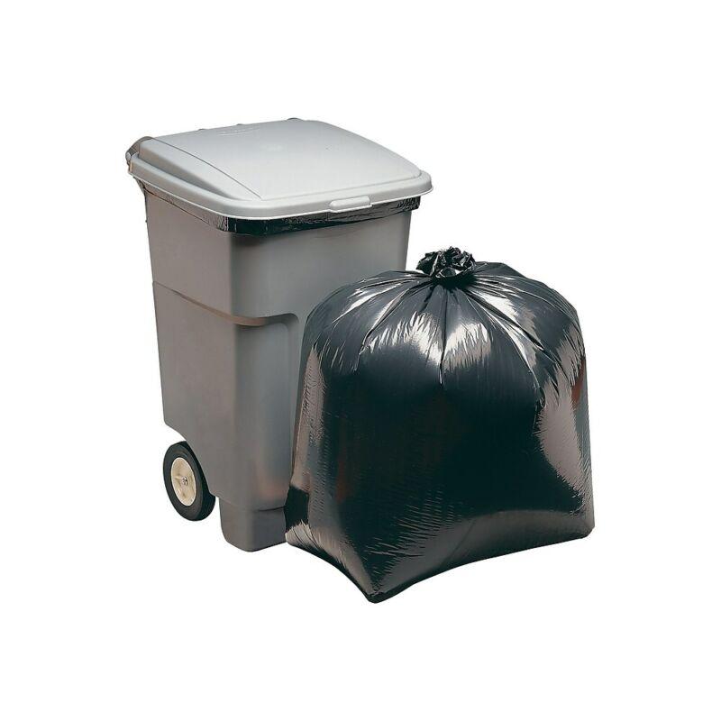 Staples Super Heavy Strength Trash Bags Black 45 gal. 918321