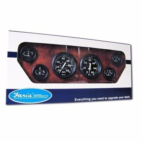 Faria Euro Gauge Boxed Set KT9799 Inboard Speedometer 55 MPH Tachometer MD