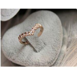 small V SHAPED  Crystal Finger Rings TOE RING