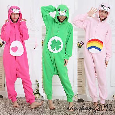 Adult Unisex Care Bears Animal Kigurumi Pajama Onesis Pyjamas Costume - Adult Bear Onesie