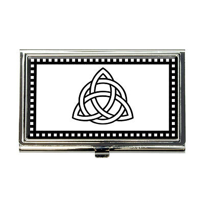 Triquetra Knot Business Credit Card Holder Case