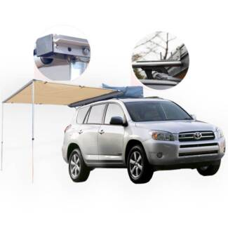 2M X 2.5M CAR AWNING ROOF TOP TENT OUTDOOR CAMPER TRAILER CAMPING