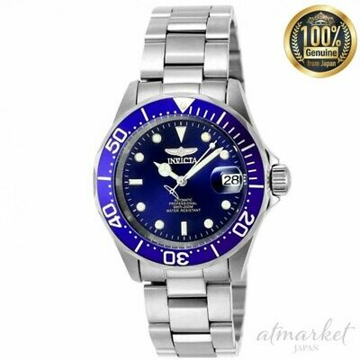Invicta Watch INVICTA-9094 Professional diver Men's Silver Band Blue Face JAPAN