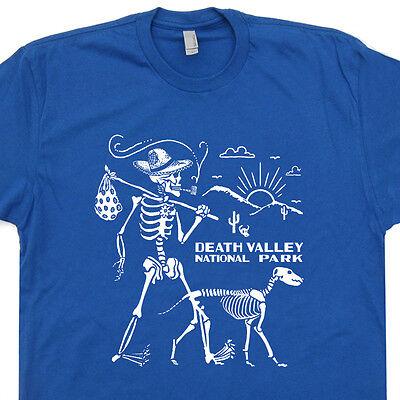 Death Valley T Shirt Skeleton Hiking Walking Dog Camping National Park Yosemite