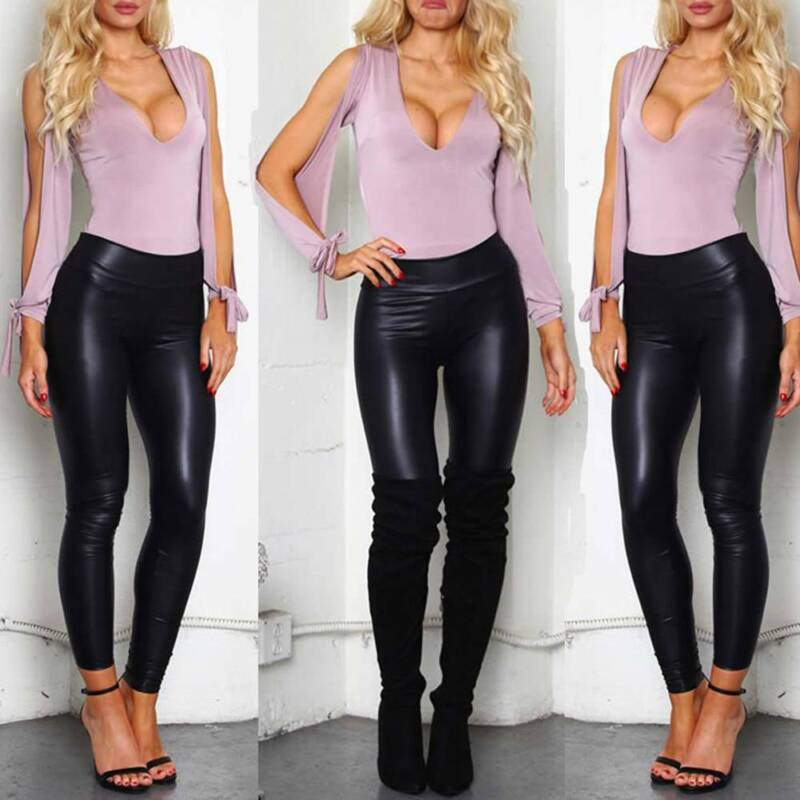 Women Ruched Push Up Leggings Yoga Pants Anti Cellulite Sport Scrunch Trousers 4