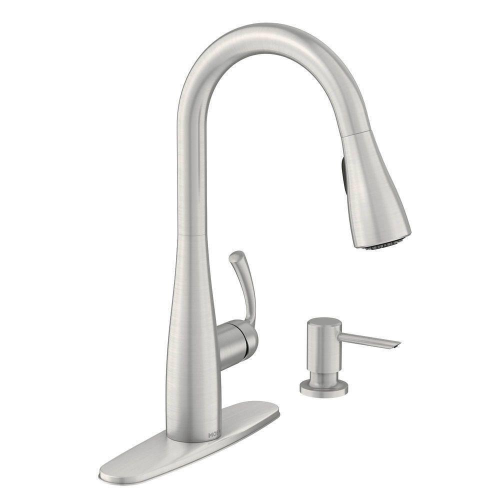 essie single handle kitchen faucet