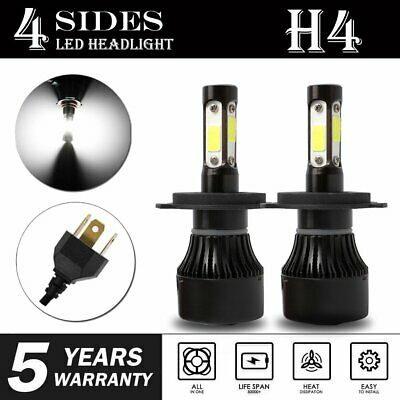 CREE H4 HB2 9003 2400W 360000LM 4-Sides LED Headlight Kit Hi/Lo Power Bulb 6000K