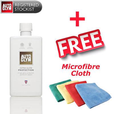 Autoglym Extra Gloss Protection 500ml Super Tough Polish + FREE Microfibre Cloth