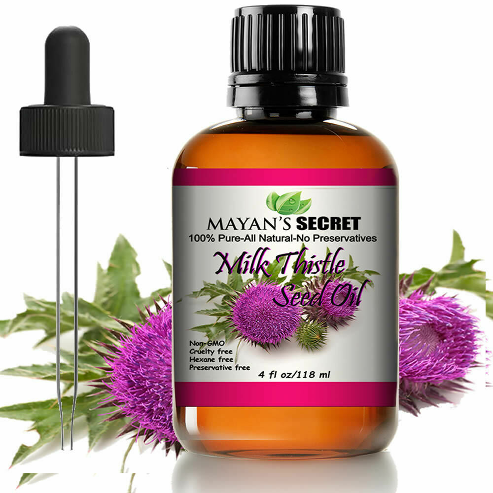 Mayan's Secret Milk Thistle Seed Oil 100% Pure Cold Pressed Rich in Vitamin E Health & Beauty