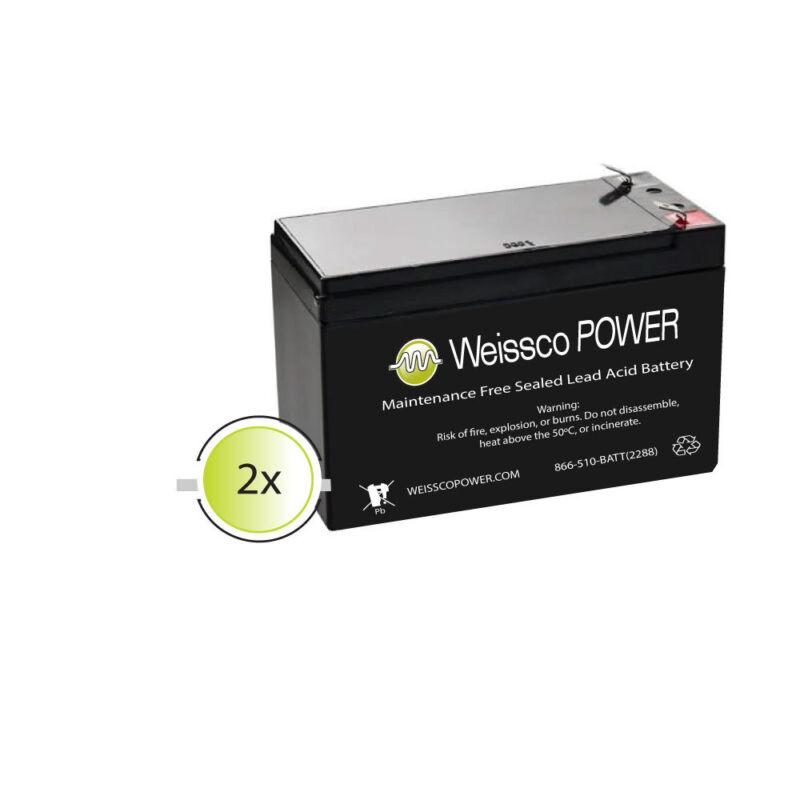 APC Back-UPS Pro BR1500G Battery Replacement Kit (2) 12V-9AH batteries
