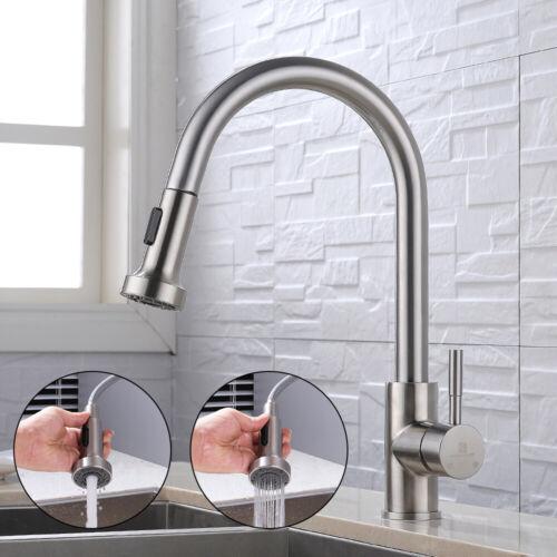 Homelody Wasserhahn Küche ausziehbar Armatur 2 Strahlen Mischbatterie Spülbecken