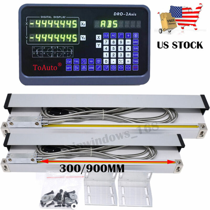 """12"""" 36"""" Linear Scale Digital Readout 2Axis DRO Display Bridgeport 9X42 Table,US"""