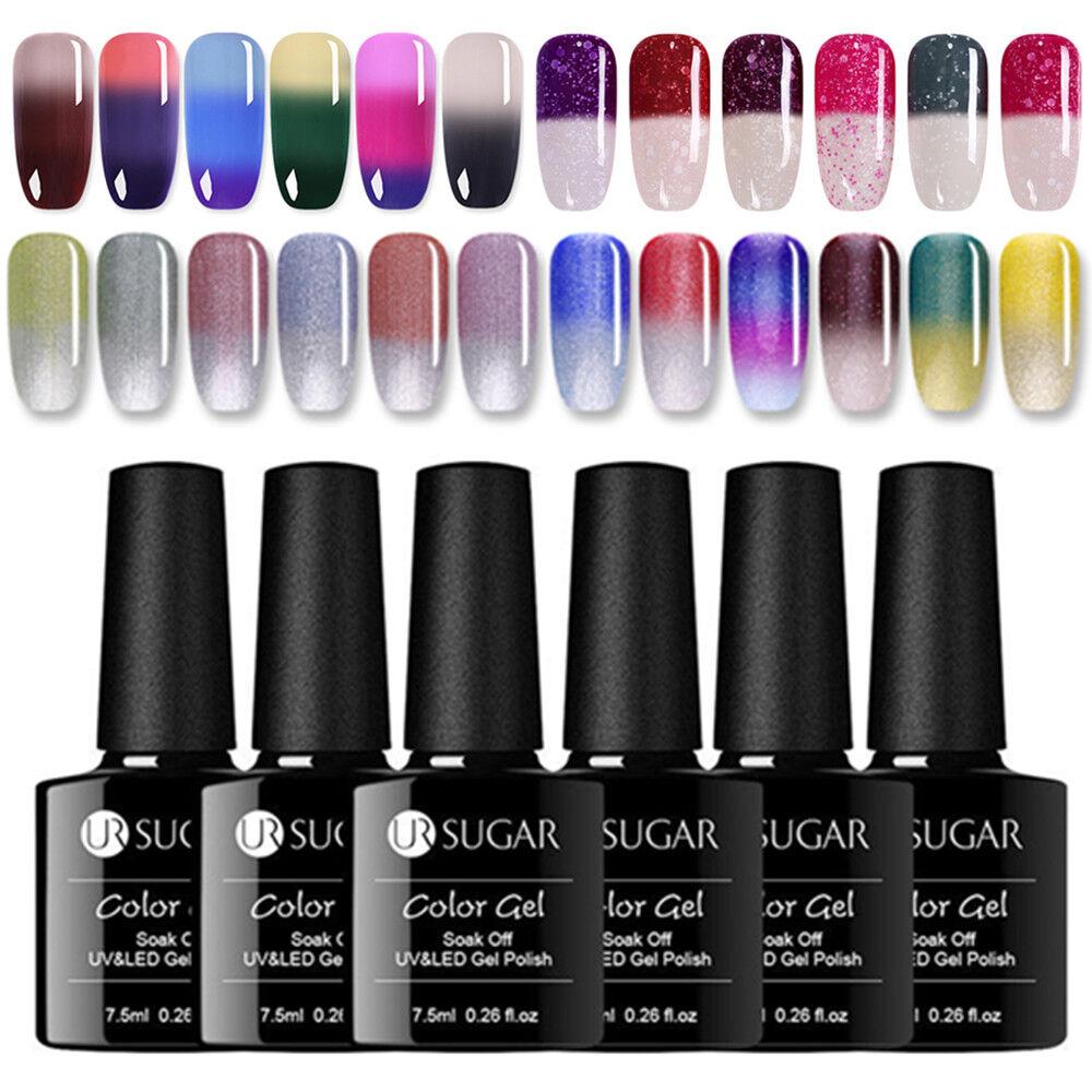 UR SUGAR 7.5ml Nail UV Gel Polish Soak off Thermal Color Cha