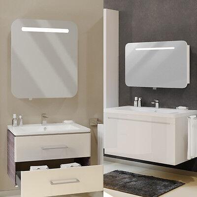 VICCO Spiegelschrank LED Hochglanz Badspiegel Bad Spiegel Badezimmer ...