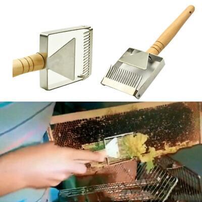 Stainless Steel Bee Hive Uncapping Honey Fork Scraper Shovel Beekeeping Tool