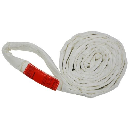 Polyester Lift Sling Endless Round Sling White 17000LBS Vertical, 8