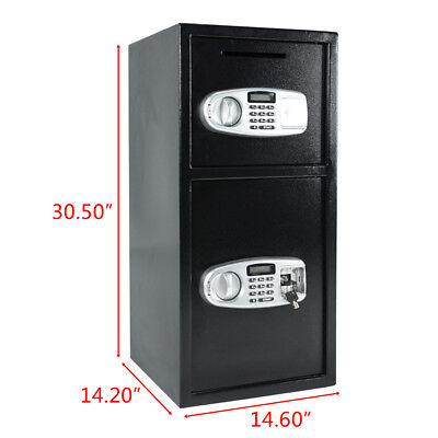 Digital Drop Depository Safe - Digital Double Door Safe Depository Drop Box Gun Safes Dependable Performance