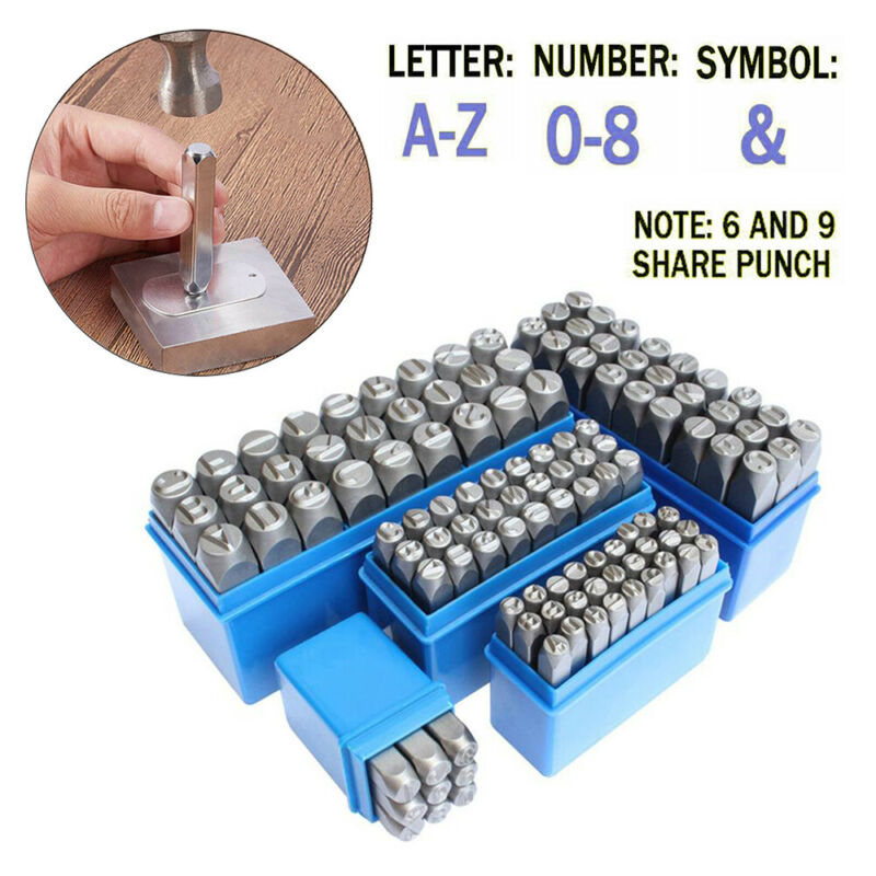 Letter Number Punch Stamps Alphabet Stamp Set Steel Metal Leather Wood A-z 0-9