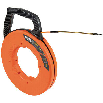 Klein Tools 56351 Fiberglass 100-foot Fish Tape With Spiral Steel Leader