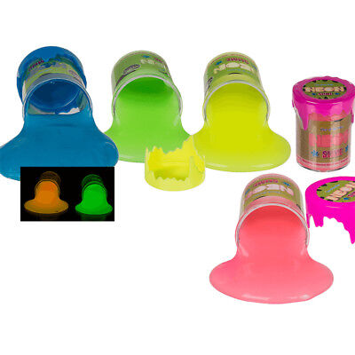 Neon Schleim Glow in the Dark leuchtet im Dunkeln Slime Glibber Slimey Farbwahl