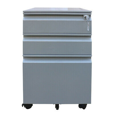 3 Drawers Metal File Cabinet Steel Filing Cabinet With Lock Assembled Sliver