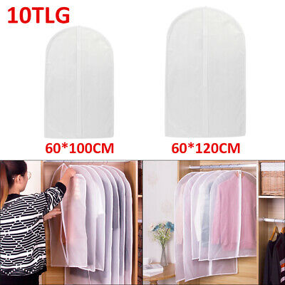 10 Kleidersack Kleiderhülle Schutzhülle Kleider Hülle Kleidersäcke Transparent