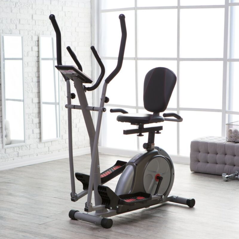 Body Rider 3-in-1 Trio-Trainer, Silver/ Red BRT3980