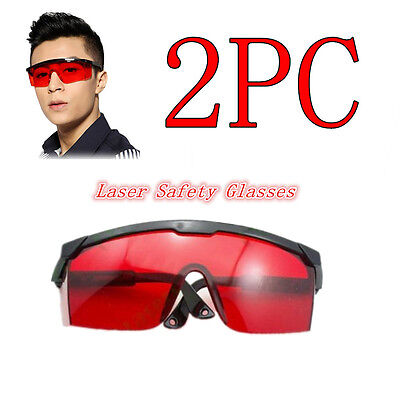2pc Red Safety Glasses Goggles 190nm-540nmgreenpurpleblue For Laser Pointer
